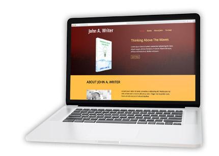 custom author websites. web design and development by iamselfpublished
