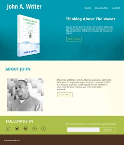 custom author websites in green theme by iamselfpublished.com